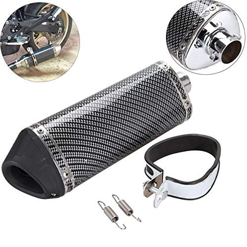 Samger 38mm Motorcycle Exhaust Muffler Silencer Removable DB Killer for Street Sport Motorcycles Scooters