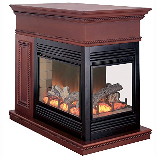 Cheap ProCom Full Size Electric Peninsula Fireplace with Remote Control-Coffee Glaze Finish Model# SPE28RE-CG Large Black Friday & Cyber Monday 2019