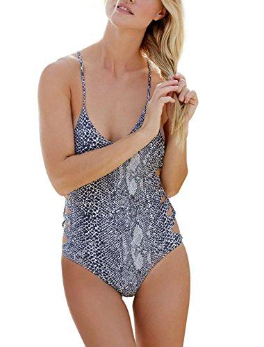 Leapparel Mujer Sexy Hacer Subir Monokini Traje de Baño de una Sola Pieza para Ropa de Playa e Piscina de Natación Waves