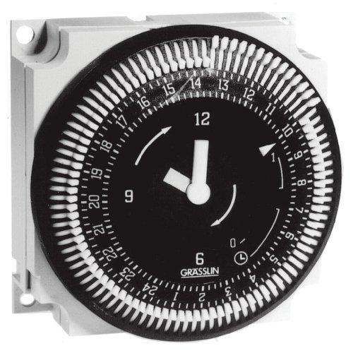 Grasslin by Intermatic FM1QTUZ-120U 24-Hour 21A, SPDT Electromechanical Timer Module with Battery Backup -