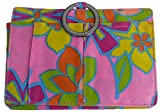 Pouchee Purse Organizer- Original Style-Bright Blooms Smooth Sateen