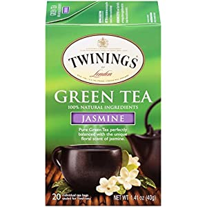 Twinings Tea, Green Tea, Green with Jasmine, 1.41 Ounce (Pack of 6)