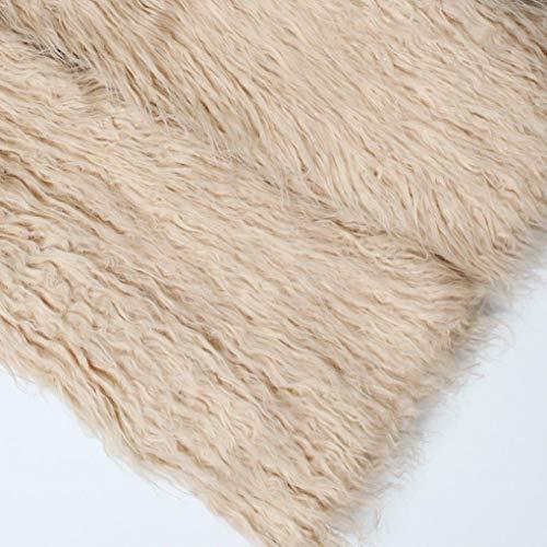 Pandaie Jacket,Women Faux Fur Ladies Sleeveless Vest Waistcoat Jacket Gilet Shrug Coat Outwear by Pandaie (Image #4)