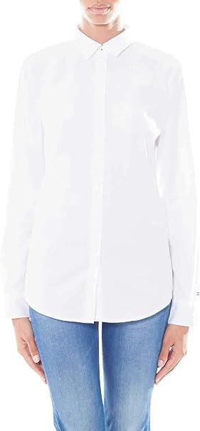 Tommy Hilfiger – Camisa de mujer de algodón blanco: Amazon.es: Ropa y accesorios