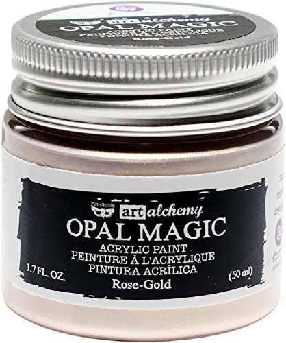 Prima Marketing 963620 Finnabair Art Alchemy Acrylic Paint, 1.7 fl. oz, Opal Magic Rose/Gold
