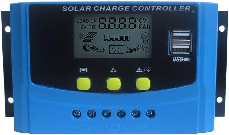 Y/&H 40A 12V//24V Intelligent Solar Panel Charge Controller Regulator USB Port 5V Light Timer Control LCD Display Kann EIN anderes Mal-kompatible MPPT PWM-Lademodus