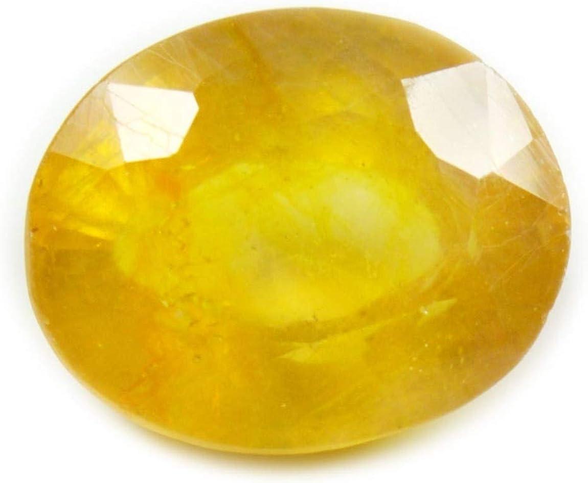 Gemsyogi 10X8 MM Tamaño Natural Amarillo Zafiro Piedra Forma Ovalada Corte facetado Venta al por Mayor de Piedras Preciosas Sueltas