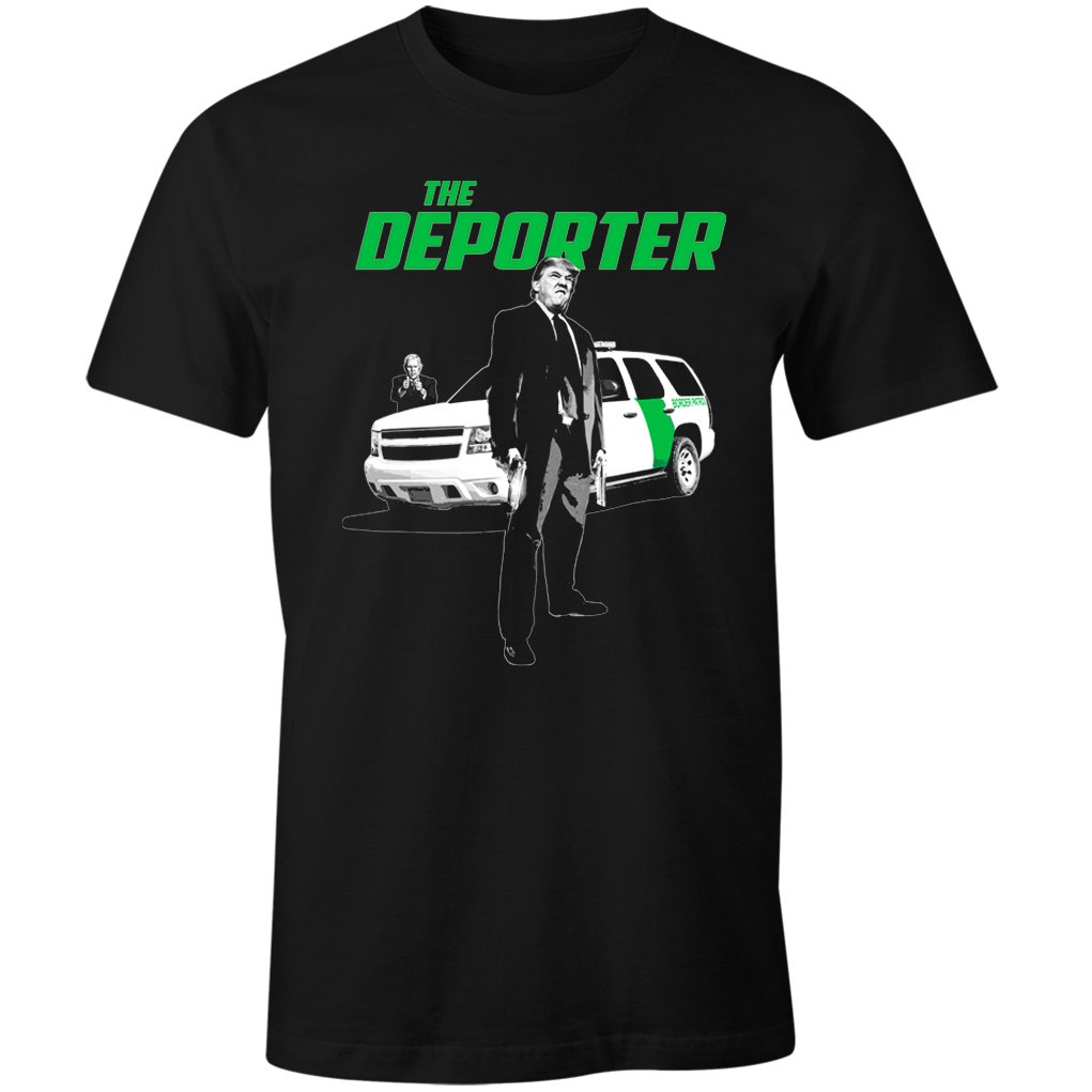 Fantastic Tees Trump The Deporter Funny Transporter Spoof Immigration Men's T Shirt Black
