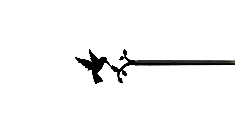 cur-18 – 130 Hummingbirdカーテンロッド   B0040M35TM