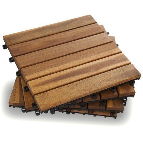 Cheap  Garden Winds DT01-YW Six Slat Deck Tiles, Classic, 10 Count