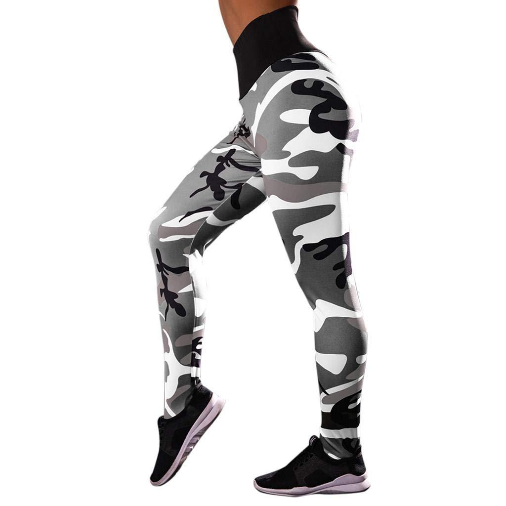 ABCone Pantaloni Yoga, Yoga Pantaloni Mimetici Stampa di Alta Vita Hip Femminile Sweatpants Leggings Sport Funzionamento di Ginnastica Yoga Pantaloni Athletic