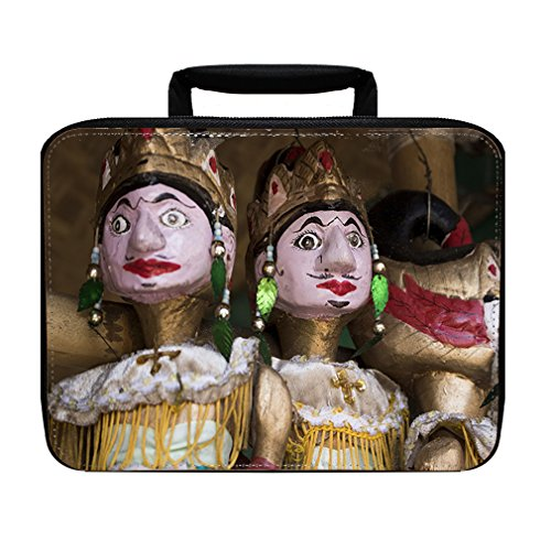 Wayang Golek Wood Puppet Insulated Lunch Box Bag