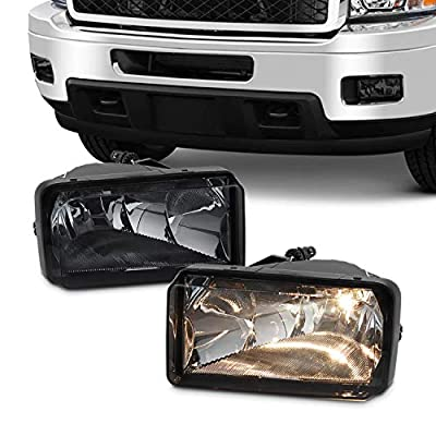For 2007-2013 Chevy Silverado Suburban Tahoe Avalanche Bumper Smoke Fog Lights w/Bulbs Replacement: Automotive