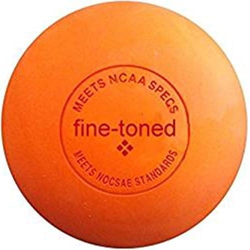 Balle de massage lacrosse Fine-Toned Elite Pro® avec instructions d'exercices (crossfit, rééducation, physiothérapie) - Traitement des points trigger - Conforme aux normes NCAA