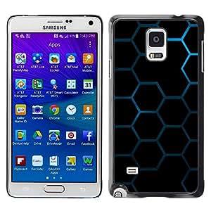 Be Good Phone Accessory // Dura Cáscara cubierta Protectora Caso Carcasa Funda de Protección para Samsung Galaxy Note 4 SM-N910 // Hexagon Honeycomb Pattern