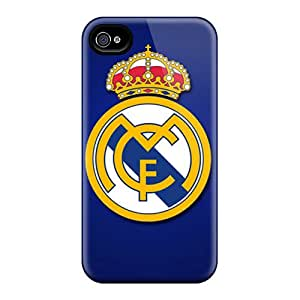 Shock Absorption Cell-phone Hard Cover For Iphone 4/4s With Unique Design Lifelike Real Madrid Cf Skin EricHowe