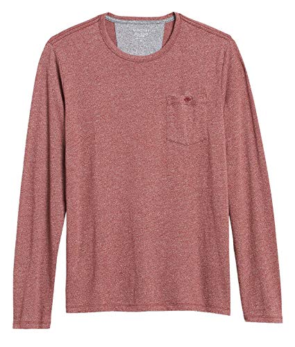 Banana Republic Men's Quick Dry Long-Sleeve T-Shirt, Dark Spiced Rum (M)