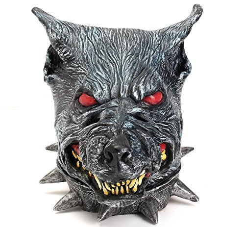 Happy Meal Halloween Costumes (Wolfhound Head Mask Creepy Animal Halloween Costume Theater Prop Latex Party Toy by Superjune)