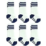 Baby Boy Tube Socks, Colorfox Children Non Slip Sports Knee High Gift Socks Blue 6 Pairs