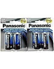 4Pc Size C Panasonic Batteries Super Heavy Duty Power Zinc Carbon