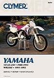 Clymer Yamaha YZ125-250; WR250Z 88-93: Service, Repair, Maintenance (CLYMER MOTORCYCLE REPAIR)
