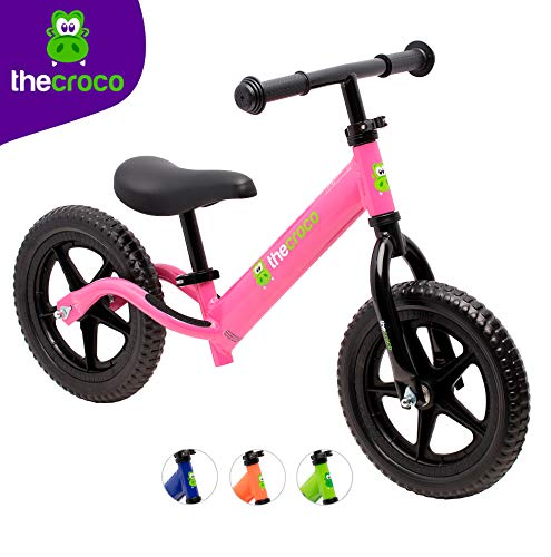 TheCroco Lightweight Balance Bike for Toddlers and Kids (Pink)