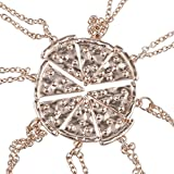 Best Slice Necklaces - Lux Accessories Rose Gold Tone Pizza Pie Slice Review