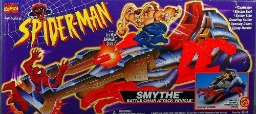 Spider-man The Animated Series SMYTHE BATTLE CHAIR ATTACK VEHICLE (1994 ToyBiz) Amazing Spider Man Action Vehicle