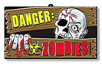 Zombies peligro Señal de peligro: Amazon.es: Juguetes y juegos
