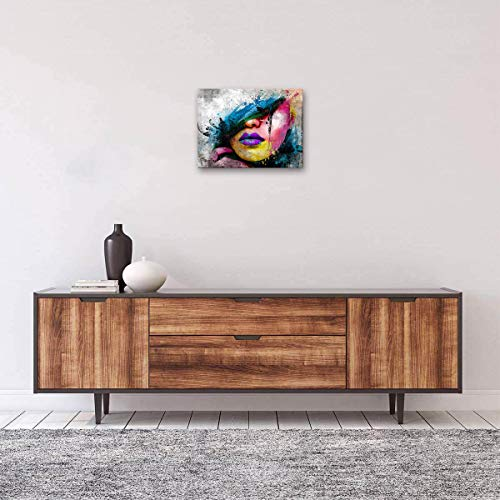 Abstract Canvas Art Wall Decor Sexy Girl Lips Pop Art Canvas Prints Modern Canvas Art Wall Paintings For Living Room Bedroom Office Home Decoration
