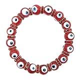 Evil Eye Bracelet Turkish Murano Glass Bead Crystal Kabbalah Jewelry for Protection
