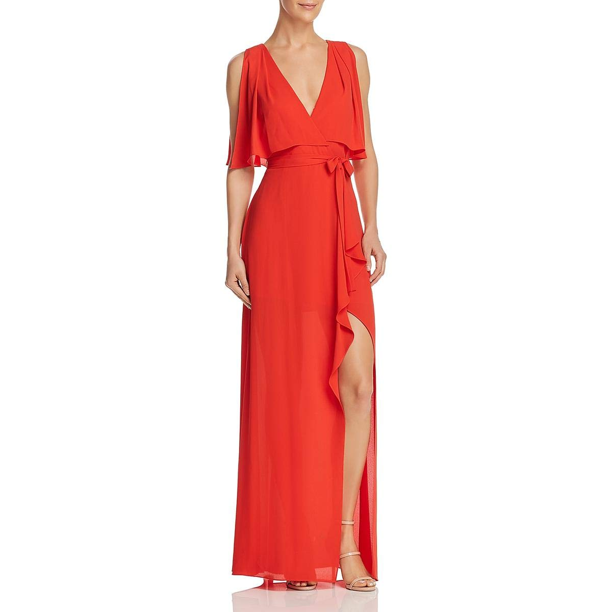 663bca78f Amazon.com: BCBG Max Azria Womens Fenella Faux-Wrap Sleeveless Evening Dress:  Clothing