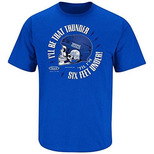 (Smack Apparel Tampa Bay Hockey Fans. I'll Be That Thunder 'Till I'm Six Feet Under. Royal Blue T-Shirt (Sm-5X) (2XL))