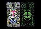 (Case for Galaxy Note 4/N910) Bon Venu Night-luminous products New Arrival Creative Luxury Life Of a King Animal Elephant Tiger Lion Cat Wolf Hard Case for Samsung Galaxy Note4 N910 case +Screen Protector (Pattern 7)