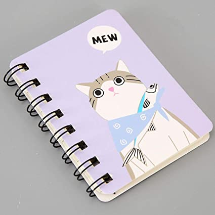 Cuaderno portátil de bobina de dibujos animados, cuaderno ...