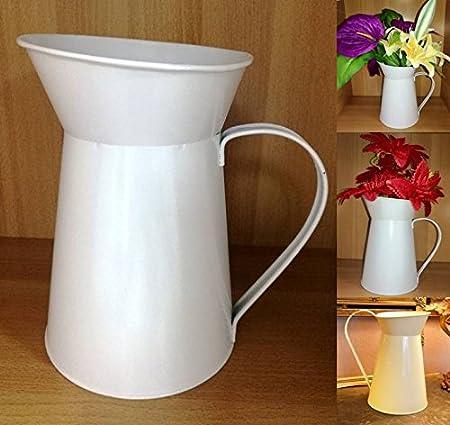 Present Brown Handmade Decorative Art Glass Barrel Vase Flower Home Decor 12 in