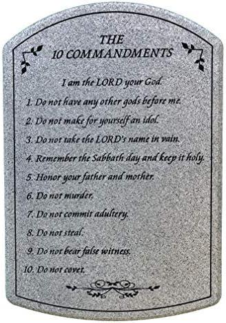 10 Commandments tablet plaque