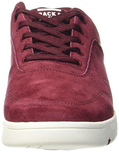 JACK & JONES Herren Jfwhoughton Nubuck Burgundy Sneaker Violett (Burgundy)