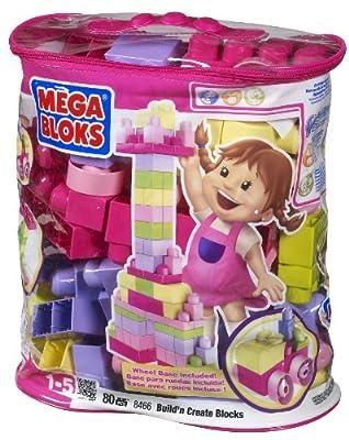 Megabloks 80pc Lrg Mega Bloks Bag Pink by Megabloks