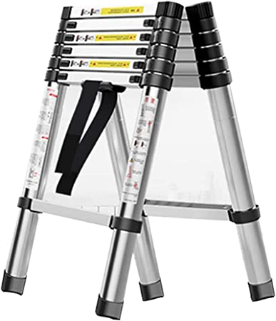 Escalera extensible/ Escalera telescópica Escalera telescópica de Aluminio, Escalera con Marco Tipo A, escaleras portátiles Plegables, Capacidad de 330 Libras, Antideslizante (Tamaño : 2.6m+2.6m): Amazon.es: Hogar