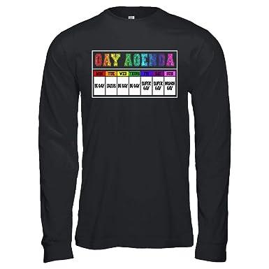 Amazon Gay Agenda Funny 7 Days Gay States Be Gay Floral Rainbow