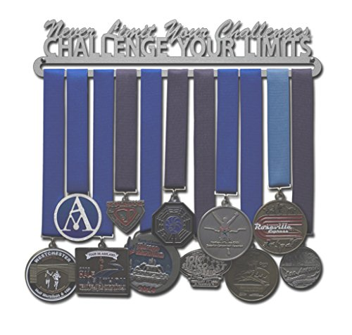 "Allied Medal Hanger - Challenge Your Limits (12"" wide with 1 hang bar)"
