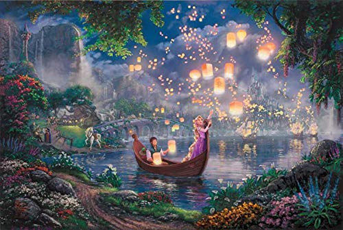 Diamond Painting Thomas Kinkade 12X16 inches 5D DIY Diamond Painting Full Round Drill Rhinestone Embroidery for Wall ()