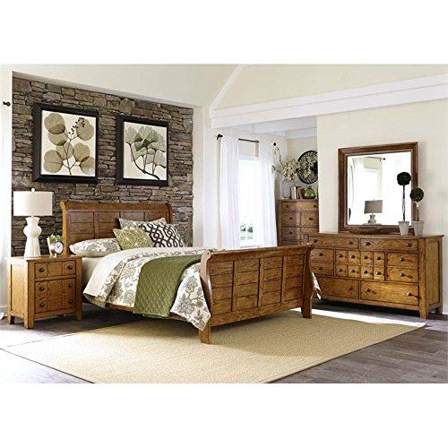 Liberty Furniture Grandpa's Cabin 5 Piece King Sleigh Bedroom Set - Liberty Grandpas Cabin