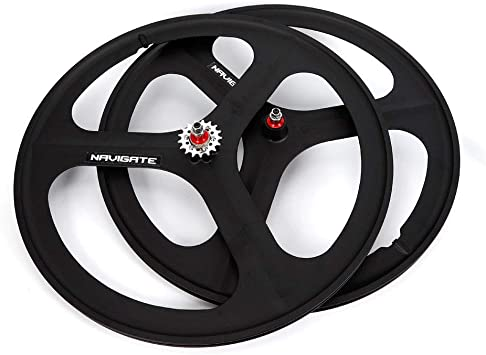 700c Fixie Fixed Gear 3-Spoke Single Speed Bike Front Mag Wheel Rim White
