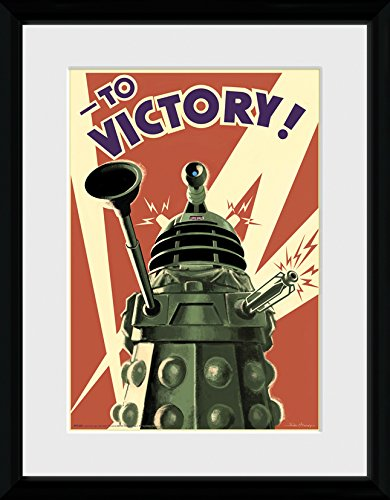 GB eye Ltd Doctor Who, Victory, Framed Print, 30 x 40 cm, Wood, Assorted PFC229