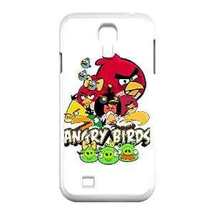 Angry Birds Funda Samsung Galaxy S4 9500 Funda Caja del teléfono celular blanco R1H7SM Cajas del teléfono del protector de plástico