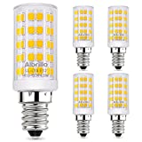 Albrillo E12 LED Candelabra Bulb Chandelier Light Bulbs 60 Watt Equivalent, 5W Ceiling Fan Light Bulbs, Warm White 3000K, Non Dimmable, 5 Pack