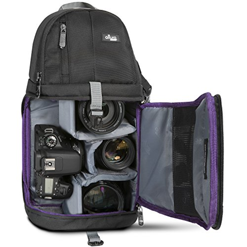 Altura Photo Camera Sling Backpack for DSLR and Mirrorless Cameras (Canon Nikon Sony Pentax) (Accessories Dslr Pentax)