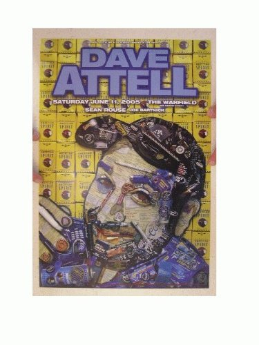 Dave Attell Concert Poster The Warfield June 11, 2005 Sean Rouse Joe Bartnick